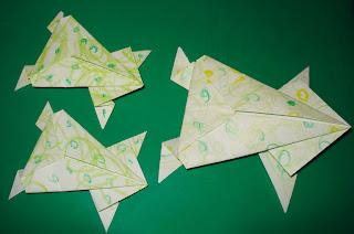 craft coaching origami hopping frog
