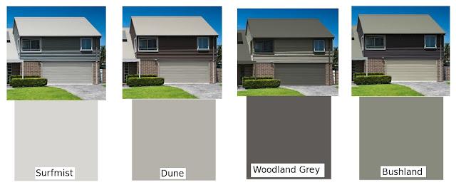 our new house  colour schemes