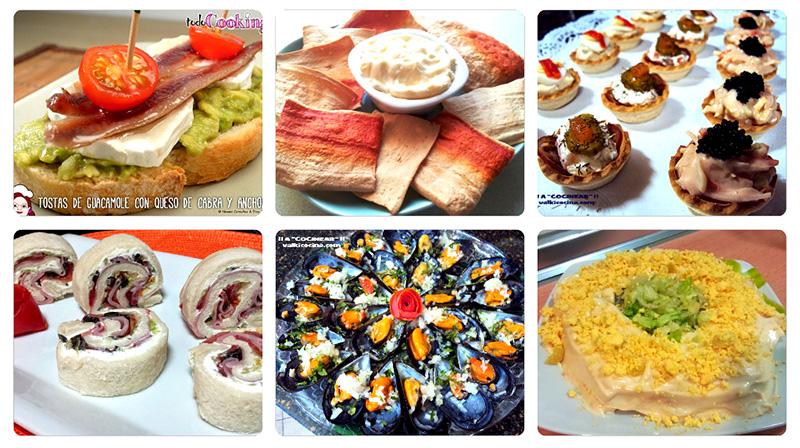 Aperitivos o entrantes frios variados a cocinear - Como hacer aperitivos frios ...