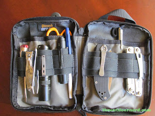 Maxpedition EDC Pocket Organizer - Shown Open With EDC Goodies Inside