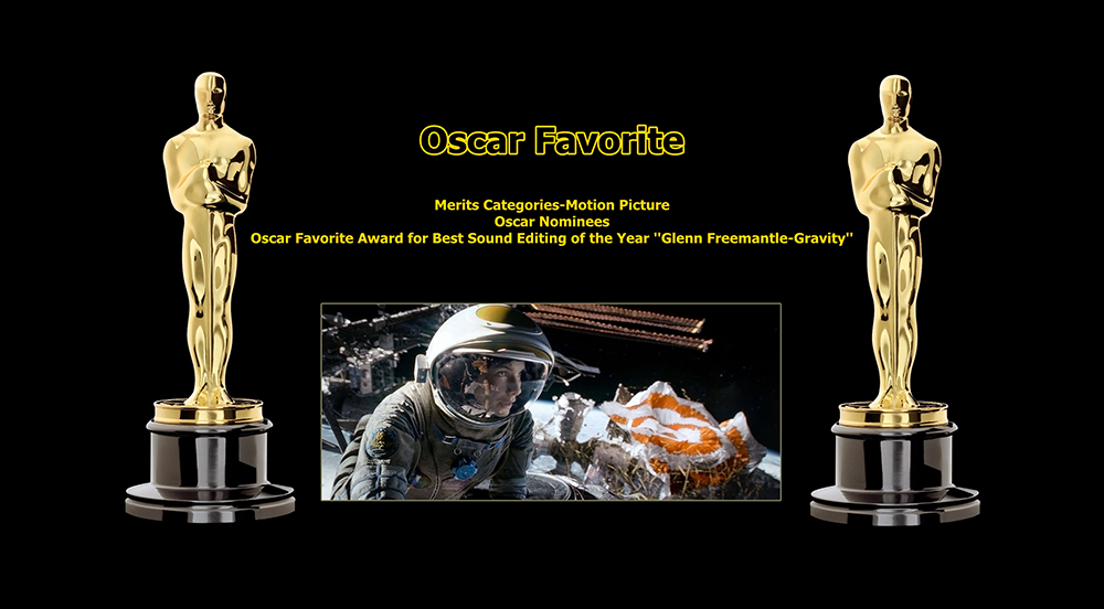oscar favorite best sound editing award glenn freemantle gravity