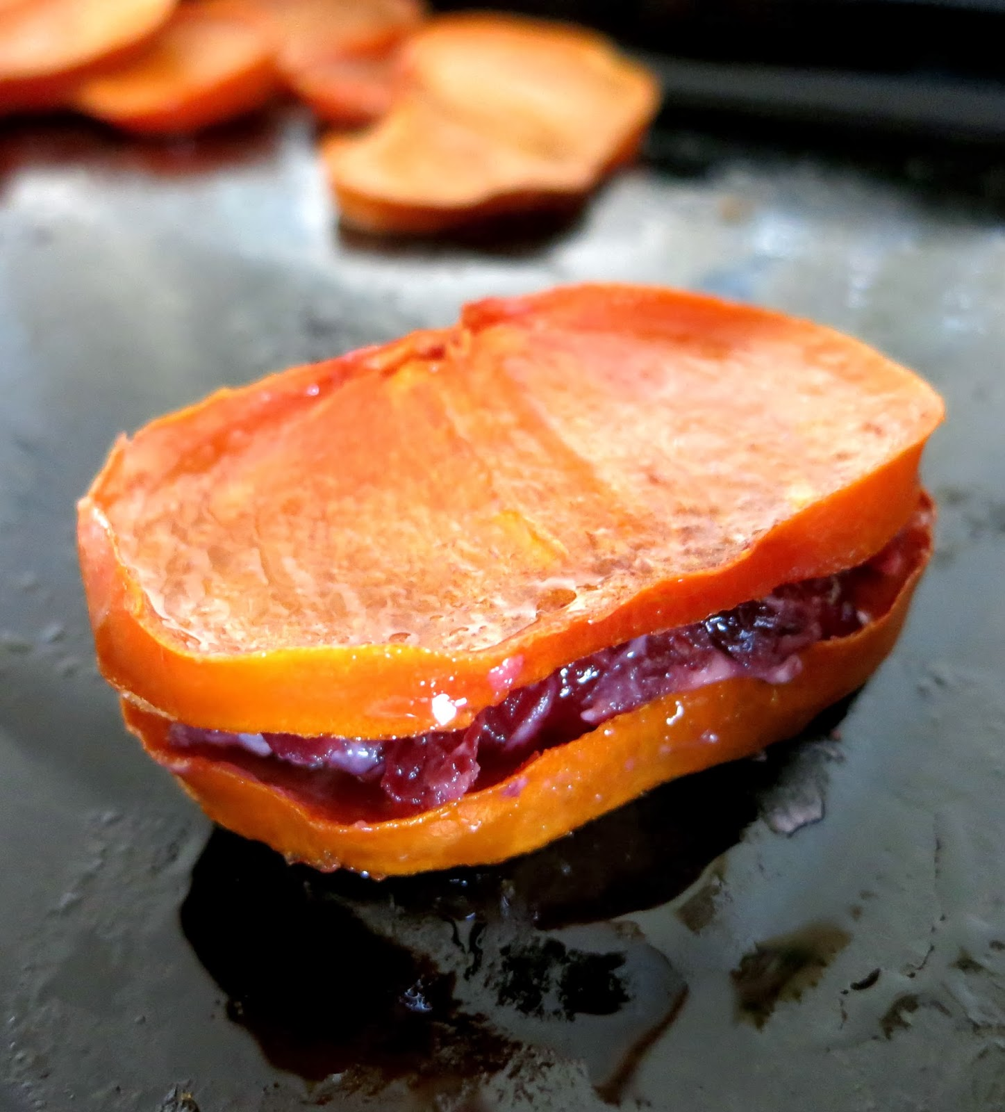 Honey Roasted Persimmon and Goat Cheese Sandwiches