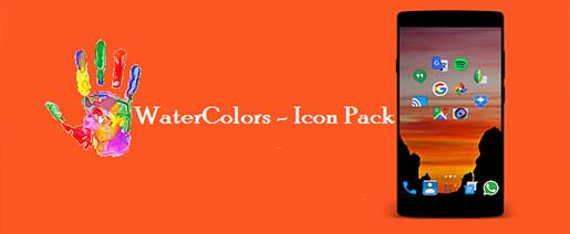 WaterColors – Icon Pack v1.0.5 Full Apk
