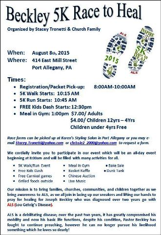 8-8 Beckley 5K Race To Heal