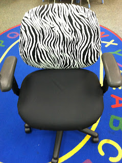 Photo of after chair zebra