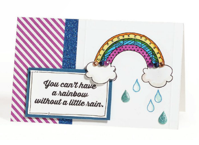 CTMH Rainbow without rain card