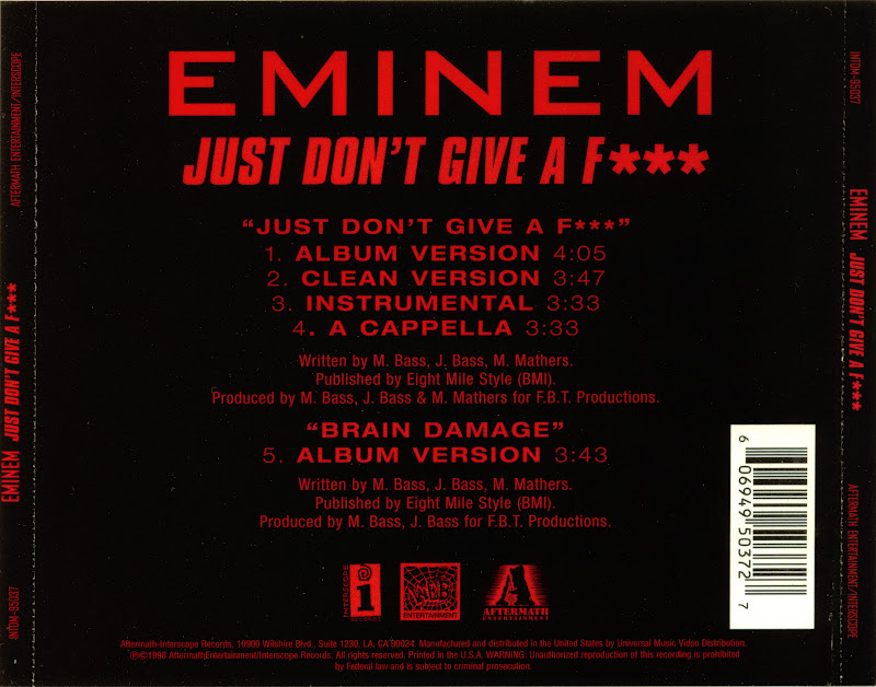 dont give a fuck eminem