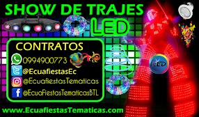 SHOW DE TRAJES LED ROBOTS GIGANTES