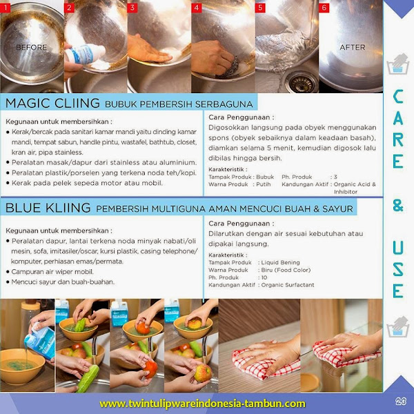 Care & Use : Magic Cliing & Blue Kliing