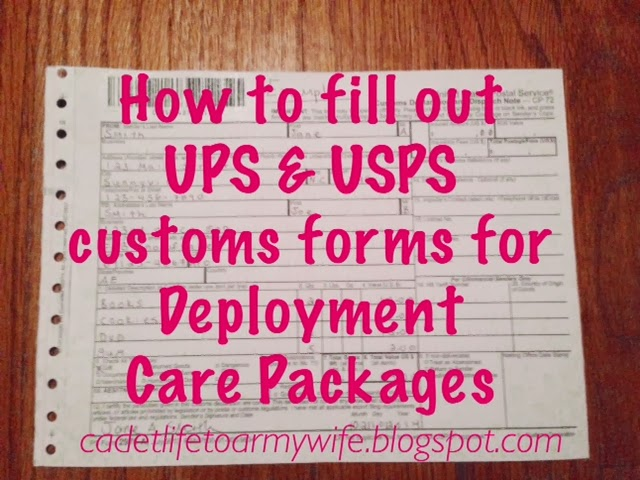 how to fill out ups usps customs forms for deployment care packages
