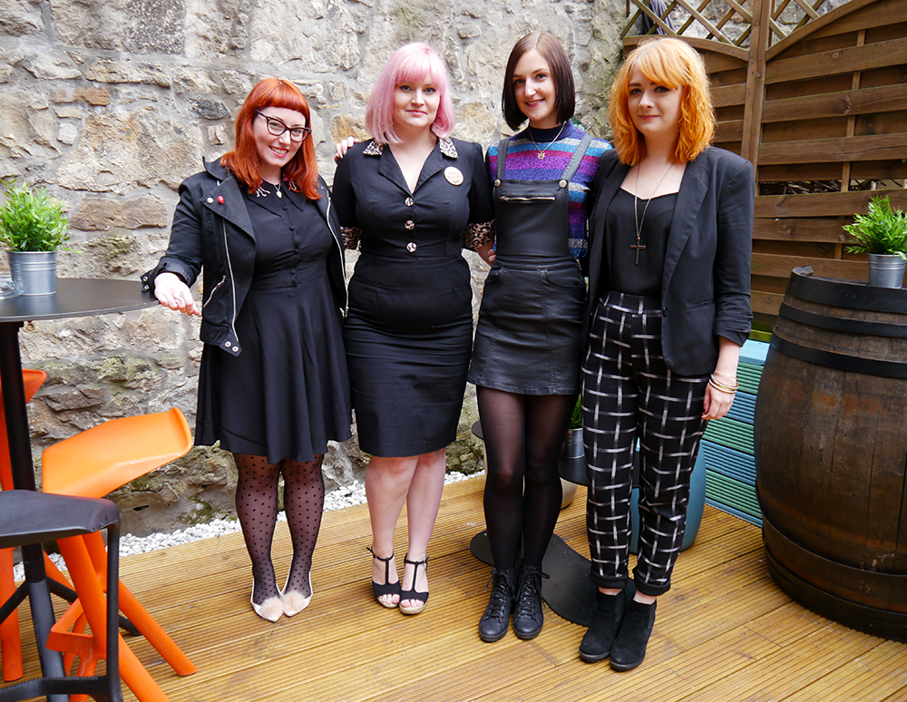 Edinburgh, Scottish bloggers, Metropolitain Fashion Show, Blogger awards, Coco Fennel flamingo dress, Best Witches necklace from Cheap Frills, ASOS pink pom pom shoes, polka dot tights, red head, ginger hair, Frankly Miss Shankly Love from Lou Lou, bloggers, #MFSblogger2015