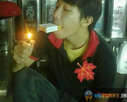 Chain Smoking Like A Boss