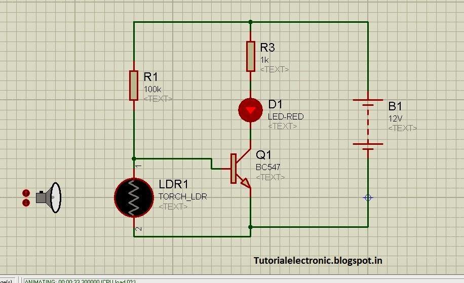 electronics tutorials: DARK SENSORS BY TRANSISTORS