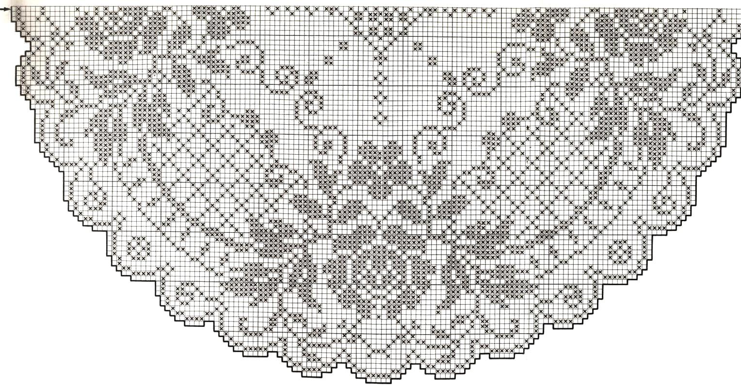 Филейное вязание салфетки скатерти схемы 67