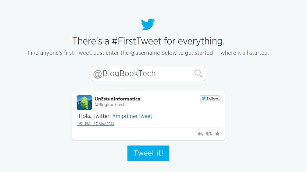 conocer primer tweet tuit twitter