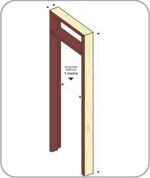 fabricar una puerta de madera: