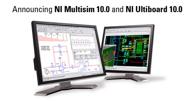 برنامج, تصميم, الدوائر, الإلكترونية, Multisim 10, NI MULTISIM 10   Circuit, Design, Suite,  NI Multisim 10.0, NI Ultiboard 10.0,  MCU