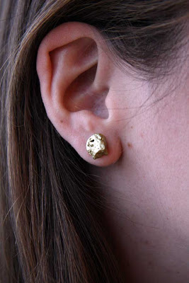 DIY Fool's Gold Earrings