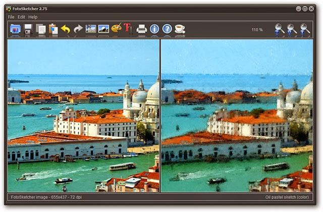 صورة توضح احد تأثيرات برنامج FotoSketcher