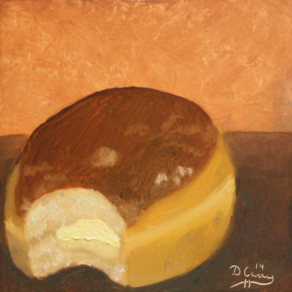 Kitchen Painting - Donuts 004c 6x6 oil on gessobord - Dave Casey - TheDailyPainter