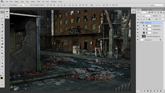 5 Tutorial Photoshop Dramatic Manipulation WAR part 1
