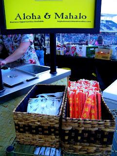 Forks and chopsticks for Soba Noodles at Isotopes Park