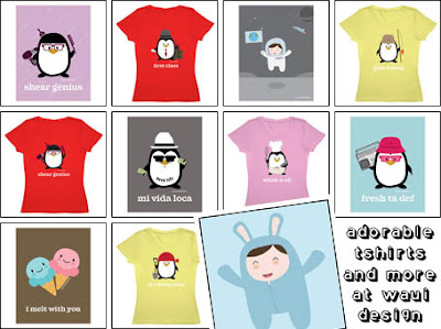 Adorable t-shirts and more at Waui Design