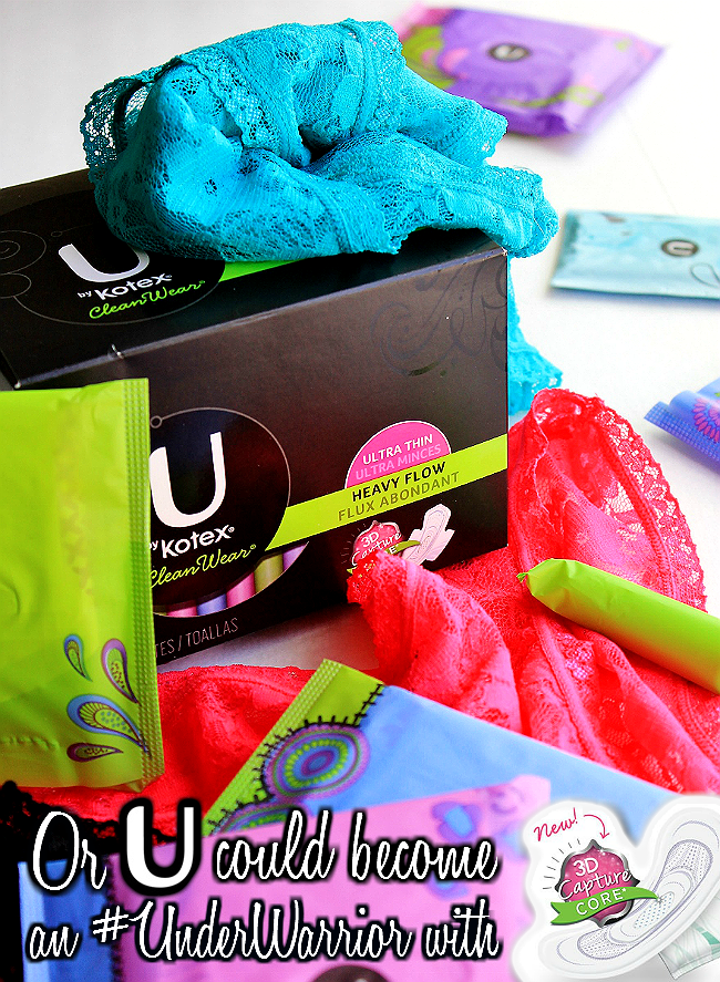 U By Kotex pads now feature 3D Capture Core technology to lock in liquid and prevent leaks- Never lose a good pair of underwear again! #Preach #UnderWarrior #SaveTheUndies #Sponsored Grab your free sample today! https://ooh.li/5a4141b
