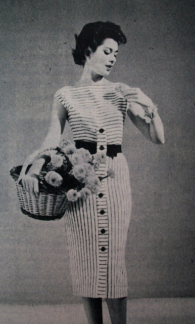 50s knitted dress