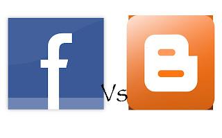 Facebook versus blog