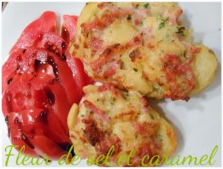 Pommes de terre farcies lardons et reblochon