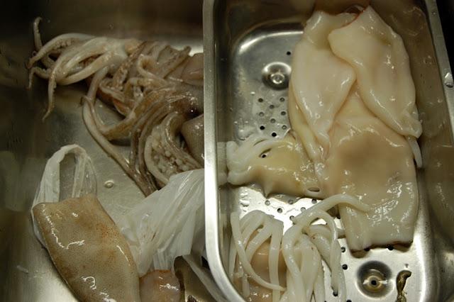 receta de calamares en su tinta
