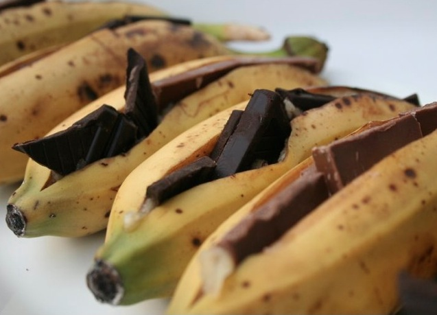 Chocolate banana bbq