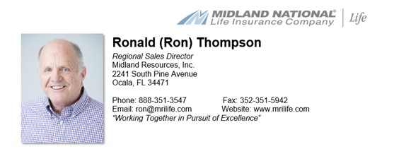 Ronald Thompson - Regional Sales Director