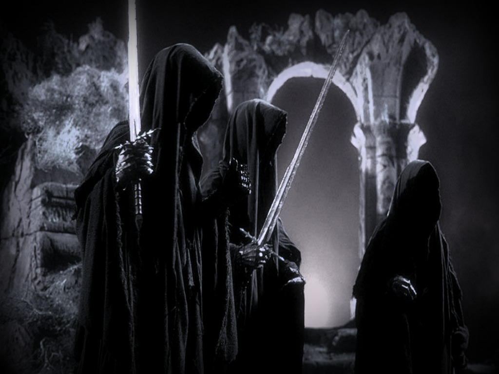 Lord Of The Rings Black And White Wallpaper