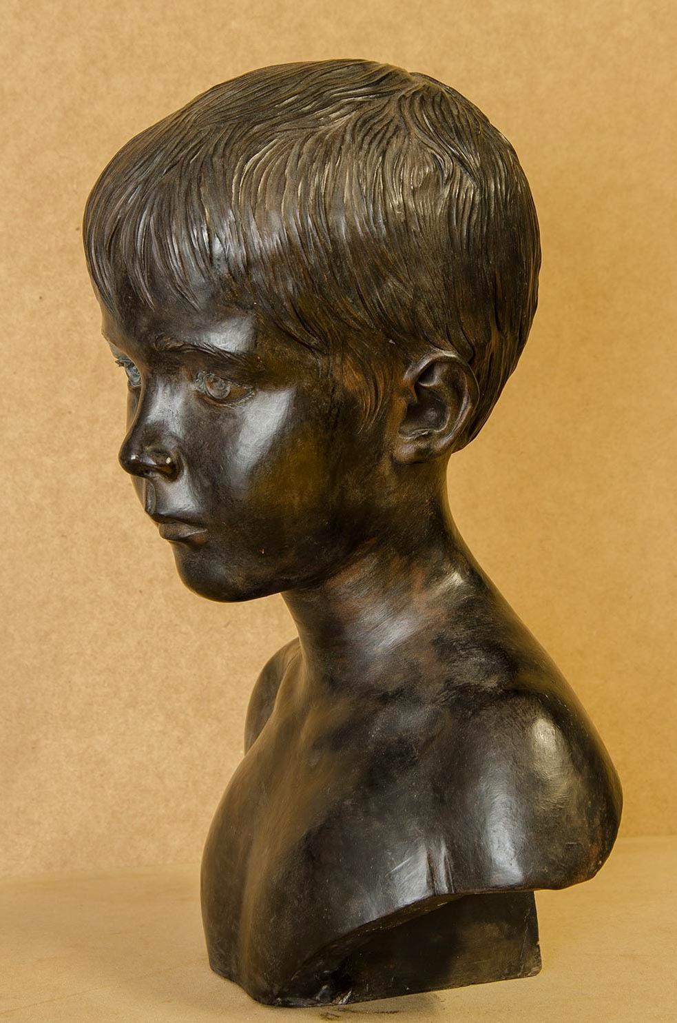 Retrato escultura barro cocido 3