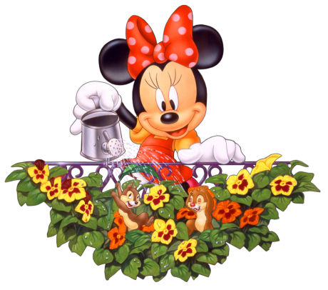 Minnie Mouse e suas flores