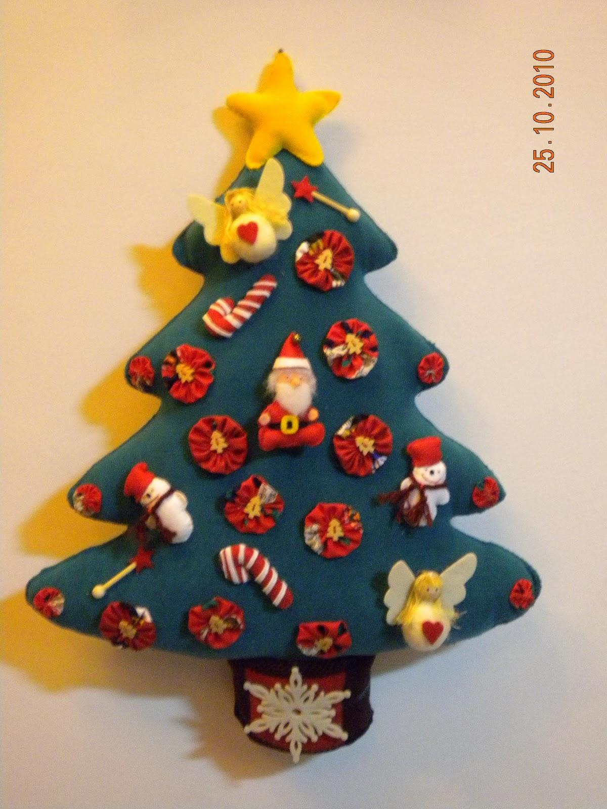 la bottega dei capricci: l'albero di natale in pannolenci