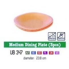 Info & Harga Twin Tulip Tulipware 2014 : Medium Dining Plate - Piring Makan Sedang