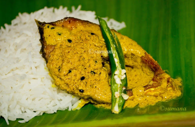 Hilsa cooked in mustard gravy, shorshe ilish, fish curry, ilish macher jhal