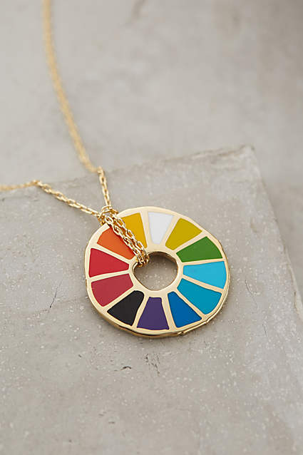 Sprinkle on Glitter Blog- Artsy gift guide pt1-color wheel necklace- Anthropologie