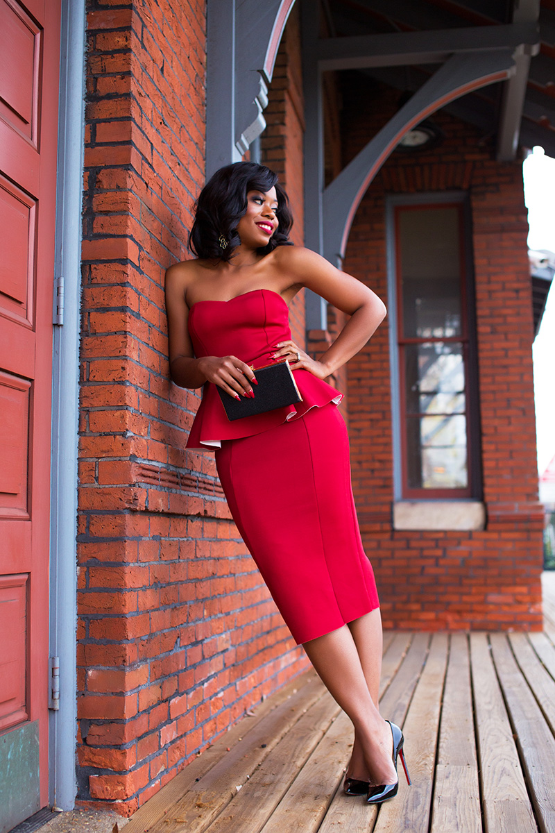 red peplum dress, www.jadore-fashion.com