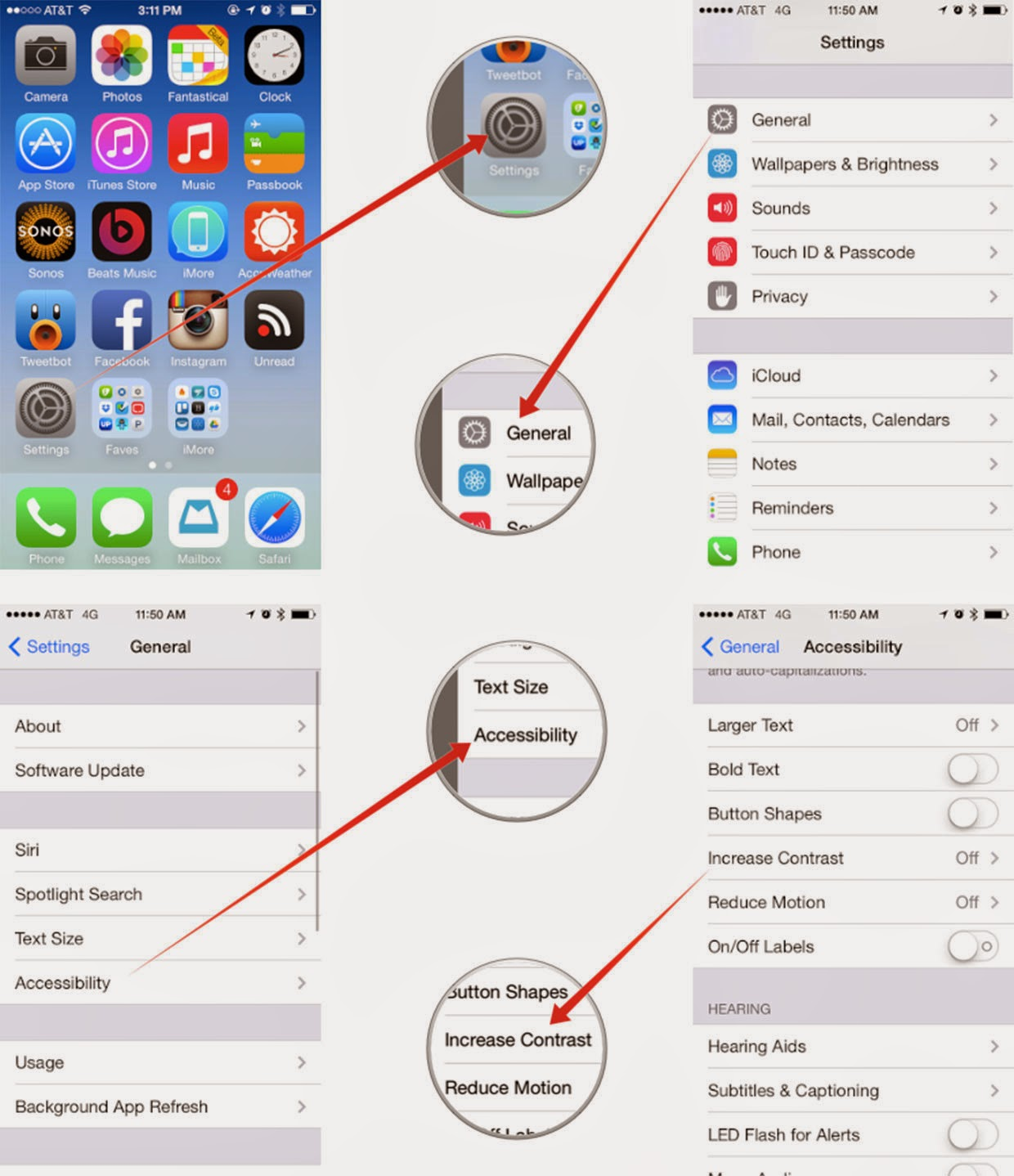 Как на айфоне сделать белый экран 248