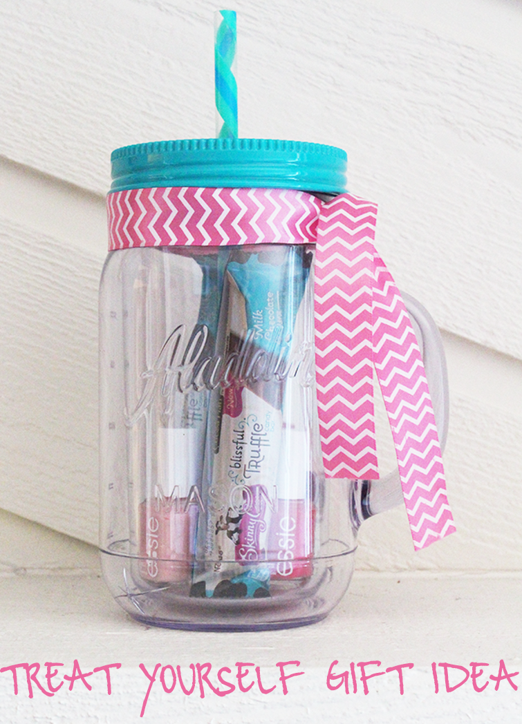 DIY Mason Jar Tumbler Treat Yourself Gift Idea