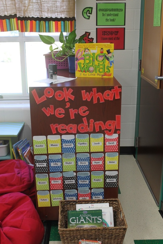 Classroom Library Ideas ~ Style closet to classroom ten pin linky reading ideas