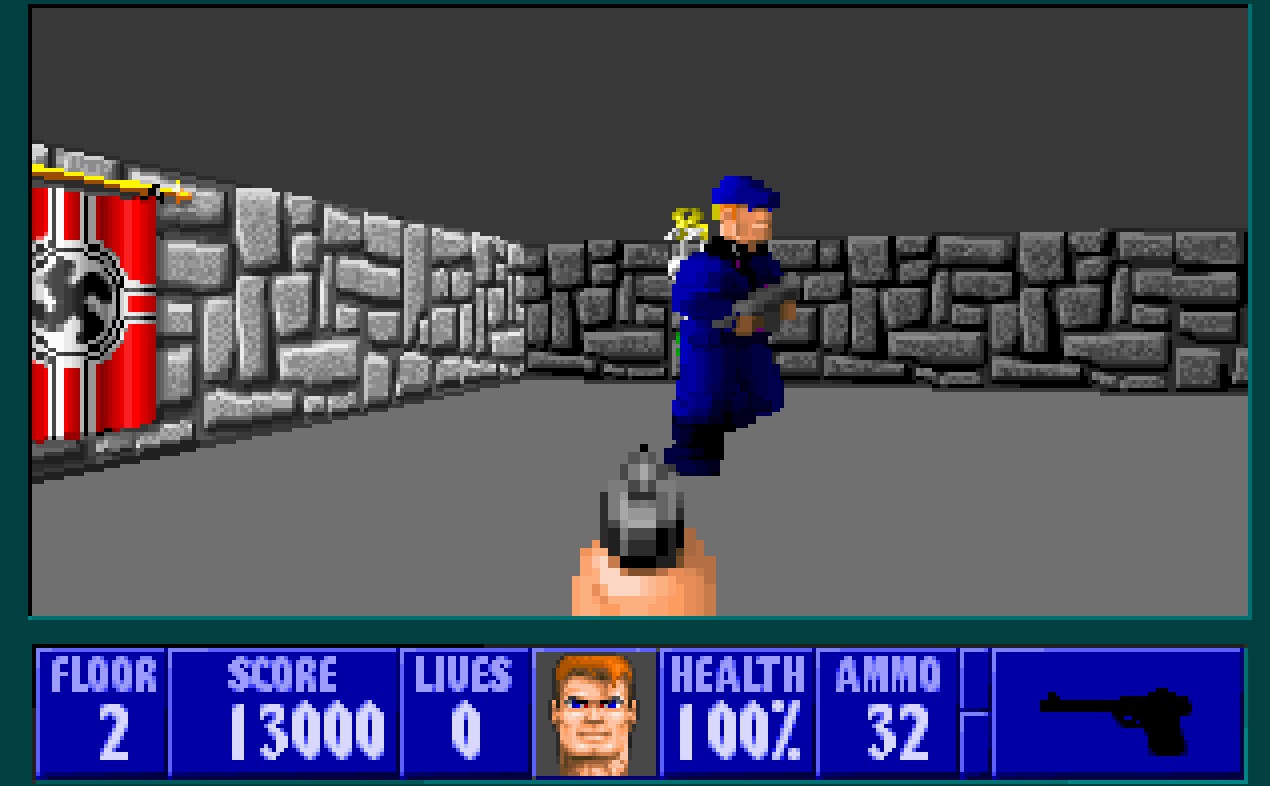 8 bit city wolfenstein 3d review resources and dos vs for Wolfenstein 3d