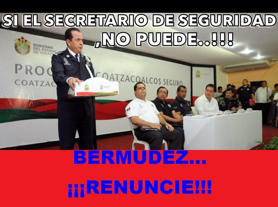 BERMUDEZ ¡¡¡RENUNCIE!!!