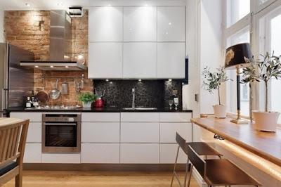 cocina minimalista industrial