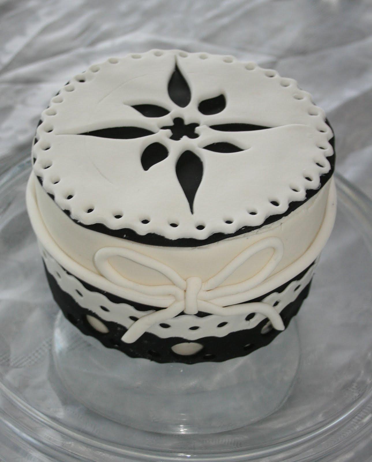 Baked By Design Black White Birthday Cake