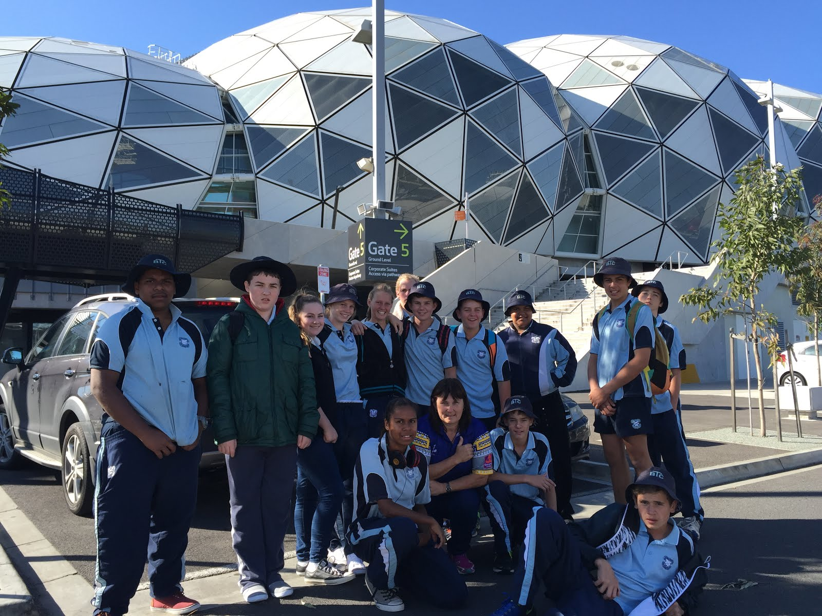 Year 9 Students at Aami Park, Melbourne